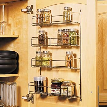 Amazon Com Feeny 4 Tier Spice Rack 7 3 4 Quot Wide Frosted