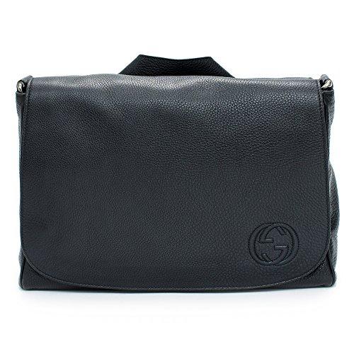 Gucci 336757 Black Pebbled Leather Emily Shoulder Bag
