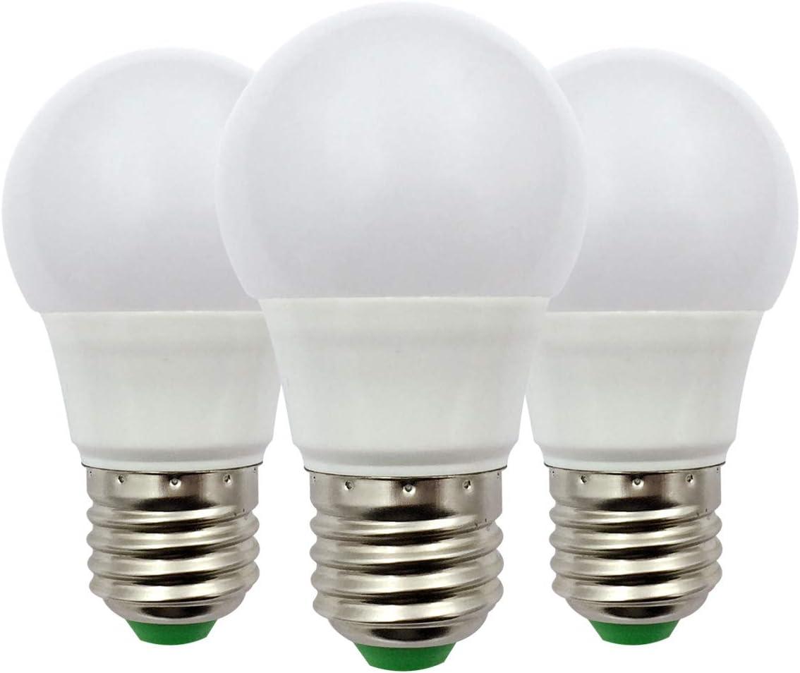 Bombilla LED E27 A50 GLS ES, 3 W (30 W), , 12 V de bajo voltaje, ideal para iluminación solar fuera de la rejilla, iluminación de interior de barco, caravana, blanco frío 6000 K, paquete de 3