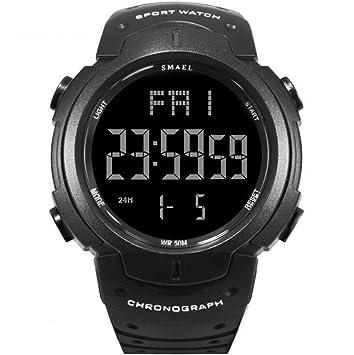 TX ZHAORUI Hombres Deportes al Aire Libre Relojes electrónicos Impermeable ejército Tabla Sola Pantalla Multifuncional Reloj Despertador luz Nocturna,#4: ...