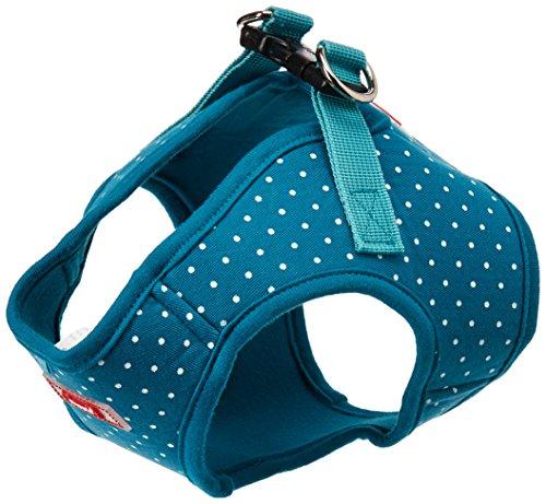 Puppia PARA-HB1529-TE-L Teal Dotty Harness II B Pet-Vest-Har