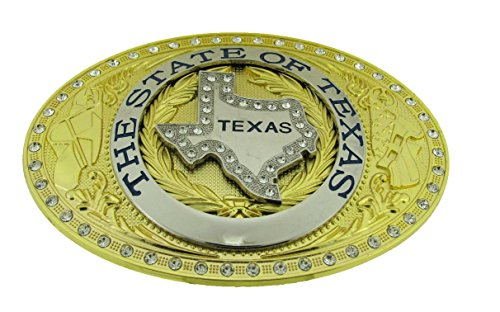 Texas Map State Color Flag Long Huge Rodeo Big Cowboy Western Shine Belt Buckle