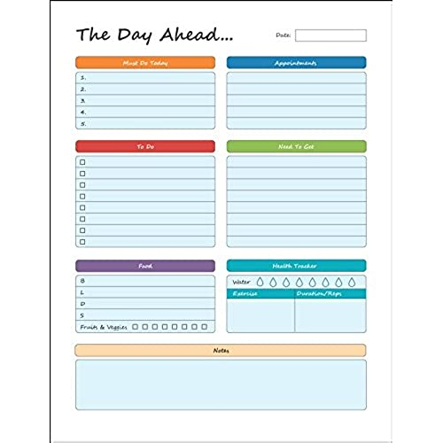 daily planner to do pad 8 5 x 11 planning pad tear off sheets