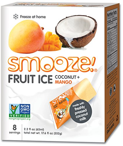 - Smooze All Natural Fruit Ice,Coconut + Mango, 17.6 Ounce Boxes (Pack of 4)