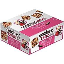 goodnessKNOWS Strawberry, Peanut & Dark Chocolate Gluten Free Snack Square Bars, 1.20 Ounce ,12 Count