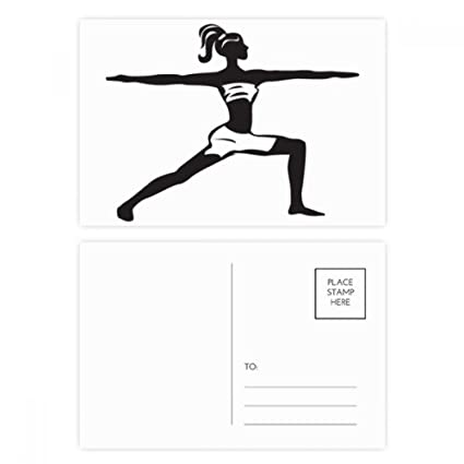 Amazon.com : Yoga Girl Keep Healthy Sports Silhouette ...