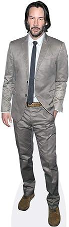 Keanu Reeves Grey Suit Mini Cutout