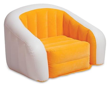 Amazon.com: Intex Orange Inflatable Cafe Club Chair: Kitchen ...