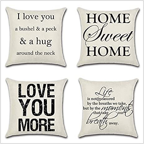 Amazon Leaveland Love You Hug Sweet Home Life Quotes Set of 4