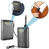 Neewer® NW-3301 Hands Free Lavalier Lapel Clip-on Wireless Microphone System: Transmitter + Receiver + Microphone + Batteries, Perfect for Presentation/Speech/Podcasting/Performance and More