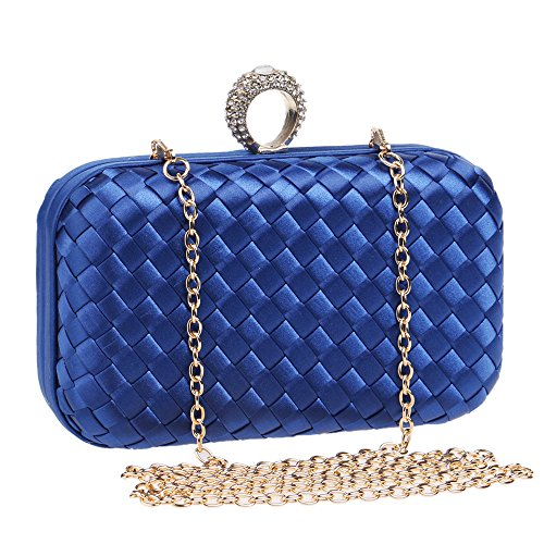 Flada - Cartera de mano para mujer Morado morado Medium azul
