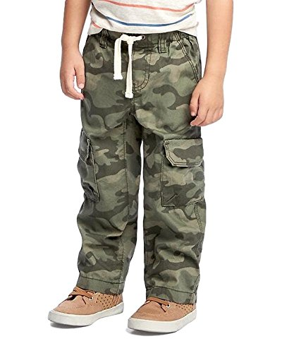 Old Navy Pull-On Cargo Pants for Toddler Boys! (Green Camo, (Old Navy Green Camo)