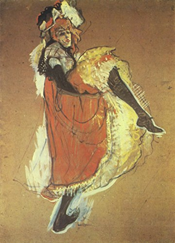 Henri Toulouse Lautrec - Orange Dancer - Small - Semi Gloss - Unframed Vintage Wall Art Poster Picture Giclee Artwork Modern Contemporary & Fine Art Print ()