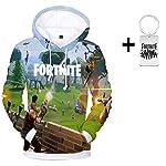 Yeawooh Unisex 3D Print Christmas Hoodie Sweatshirt for Men Women Teen Boys Girls (Send A Necklace) XXS