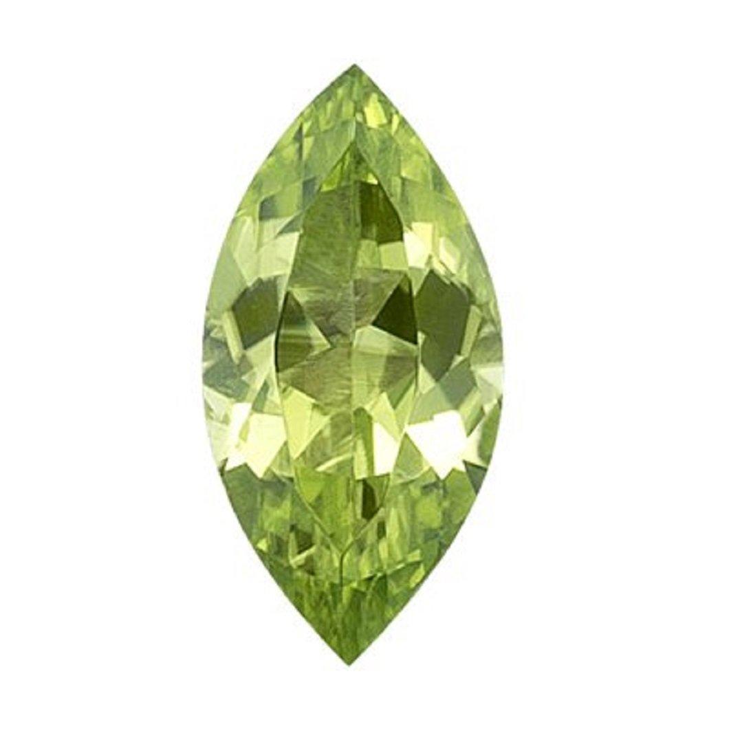 Natural 1.00 Carat 10x5 MM AAA Marquise Peridot (1 pc) Loose Gemstone