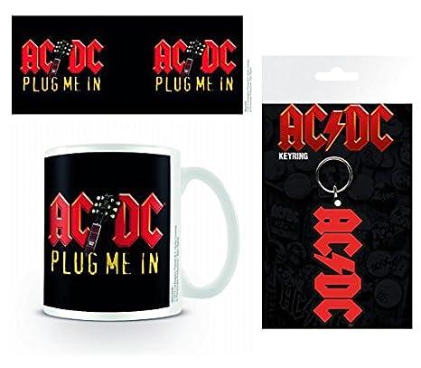 1art1 AC/DC, Plug Me In Taza Foto (9x8 cm) Y 1 AC/DC ...