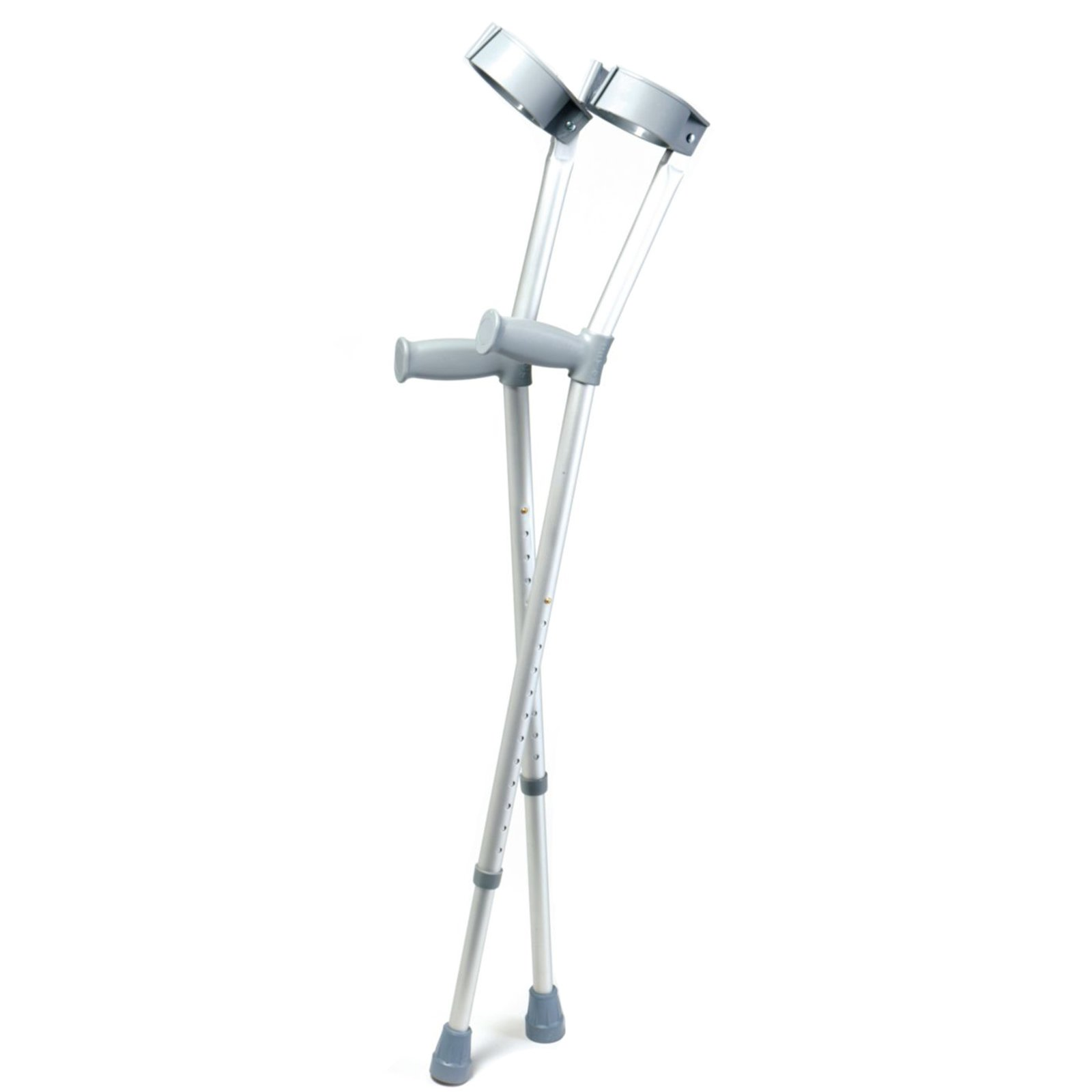 Days Forearm Crutches, Tall Adult Size, Turning Arm Cuffs and Crutches Support Legs After Injury or Surgery, Adjustable Height and Handle Crutches for Elderly, Handicapped, and Disabled Users