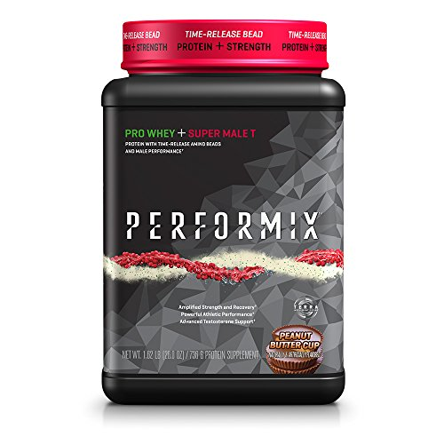 PERFORMIX Pro Whey + Super Male T Protein with Time-Release and Amino Beads, Male Performance, Peanut Butter Cup For Sale