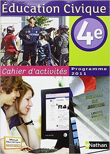 Livres gratuits en ligne Cahier d'activités éducation civique 4e pdf, epub ebook