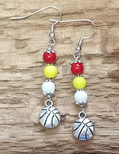 ROCKETS Basketball Inspired Earrings (Houston Rockets Earring)