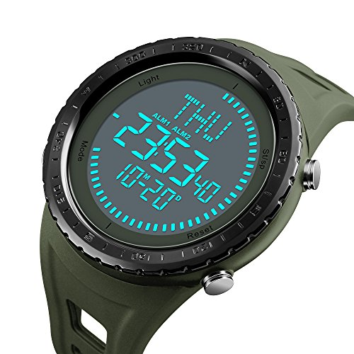 SKMEI NEW Compass Watch Men's Sports Watches 5ATM Water Proof Digital Outdoor Backlight Countdown Wrist Watches