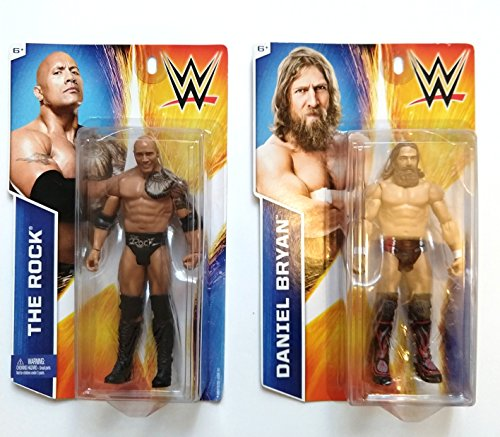 WWE Figures to Re-Create The Action of Two Fighter (Daniel Bryan and The Rock) 2 Figures by WWE