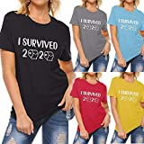 DAYPLAY I Survived 2020 Funny Sayings Tshirts for