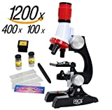 Kyпить Science kits for kids microscope Beginner Microscope Kit LED 100X, 400x, and 1200x Magnification kids science toys,red на Amazon.com