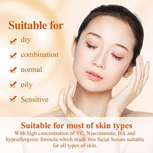 51wdHabYaiL - Vitamin C Serum for Face and Skin - With Hyaluronic Acid, Niacinamide, Retinol - Natural Anti Aging, Anti Wrinkle Serum for Skin Brightening and Moisturizing - 1.37 Fl. Oz