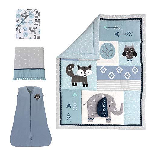 Lambs & Ivy Stay Wild Animal Arrow 4 Piece Crib Bedding Set, - Collection Bedding Crib Patchwork