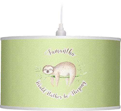 RNK Shops Sloth Drum Pendant Lamp Linen (Personalized) by RNK Shops