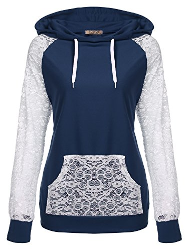 Hooded Long Sleeve Lace - 1