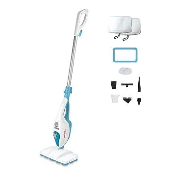 Polti Vaporetto SV220 - Escoba de vapor para suelos, doble función con limpiador a vapor portátil, 10 accesorios para todo tipo de superficies, color blanco ...