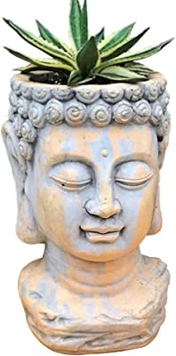 clay-buddha-head-planter