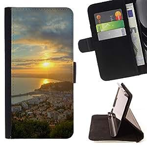 For Samsung Galaxy E5 E500 Case , Naturaleza Hermosa Forrest Verde 68- la tarjeta de Crédito Slots PU Funda de cuero Monedero caso cubierta de piel
