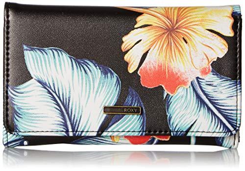 (Roxy Juno Printed Bi-fold Wallet, anthracite tropical love s)