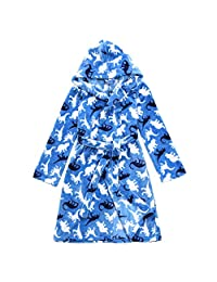Slumber Party Boys Fleece Robe/Housecoat w/Dino Prints for 7yrs-12+yrs