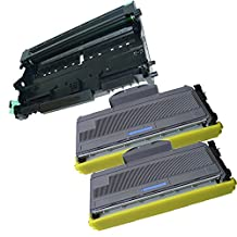 3PK-2 High Yield InkFirst® Toner Cartridges + 1 Drum Unit TN-360 DR-360 Compatible Remanufactured for Brother TN-360 DR-360 (2 toner + 1 drum) DCP-7030 DCP-7040 MFC-7340 MFC-7345N MFC-7440N MFC-7840W HL-2140 HL-2170W