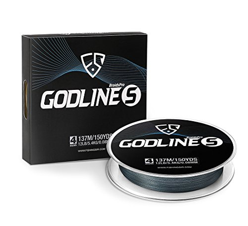FISHINGSIR Godline S New Braided Fishing Line Abrasion Resistant,7LB 10LB 12 LB 15LB 20LB 25LB 30LB 40LB 50LB 65LB