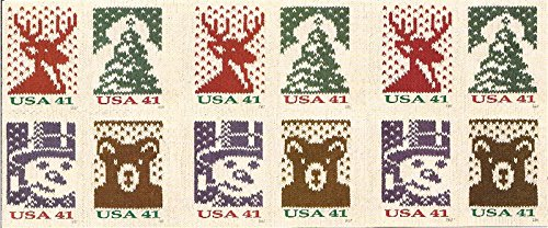 Us Stamps Booklet Pane - US Stamp 2007 Christmas Holiday Knits Booklet Pane of 20 Stamps #4210d