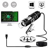 USB Microscope 1000x Digital Handheld Microscope, 8 LED USB 2.0 Magnification Endoscope Mini Camera with OTG Adapter...