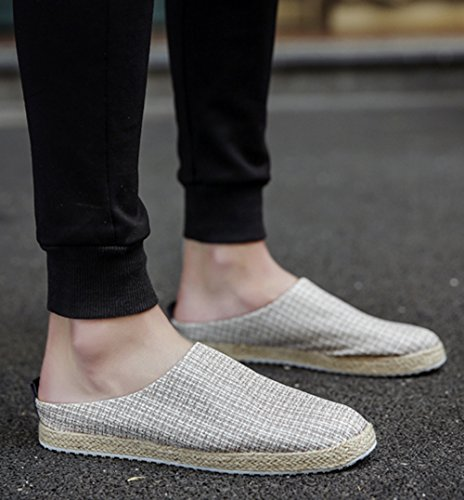 Baotou Scarpe Pigre Pantofole Scarpe Lino Casual Uomo Sandali Da MYXUA 3 In Casual wTZq818I