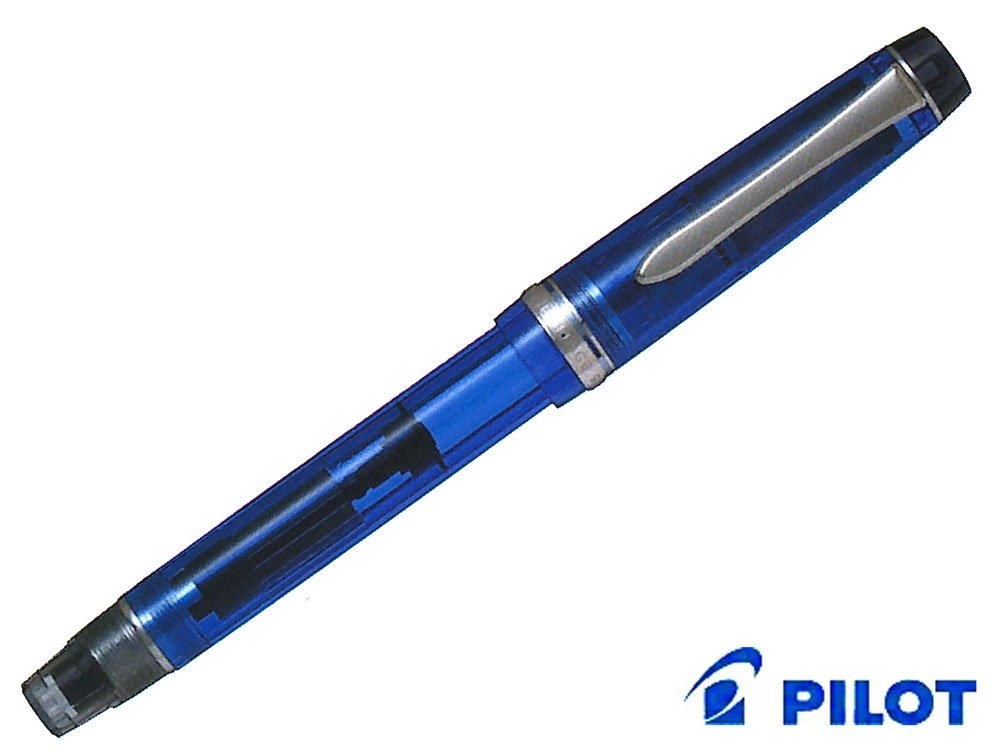Pilot pluma estilográfica patrimonio personalizado 92, color azul transparente M-NiB cuerpo, M-NiB transparente (fkvh-15srs-tl-m) ea7143