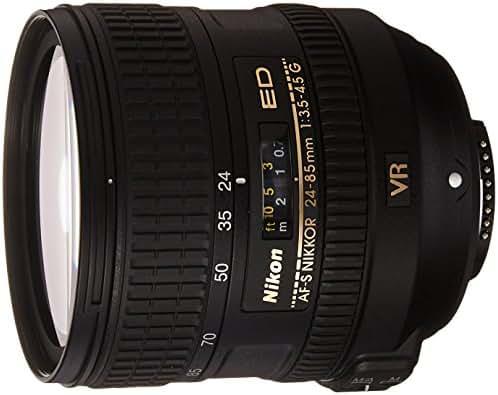 NIKON 24-85mm F/3.5-4.5G ED VR AF-S Nikkor Lens - White Box (New) (Bulk Packaging)