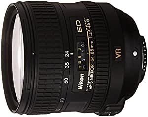 Nikon AF-S VR 24-85mm F3.5-4.5 G ED - Objetivo con montura para Nikon (distancia focal 24-85mm , apertura f/3.5, estabilizador de imagen)