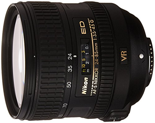 NIKON 24-85mm F/3.5-4.5G ED VR AF-S Nikkor Lens – White Box (New) (Bulk Packaging)