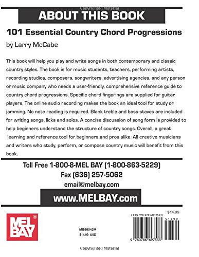 Amazon 101 Essential Country Chord Progressions For Guitar