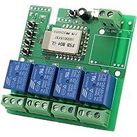 4 Channel WiFi Wireless Switch Inching/Self-Locking/Inter-Locking with Remote APP 220V