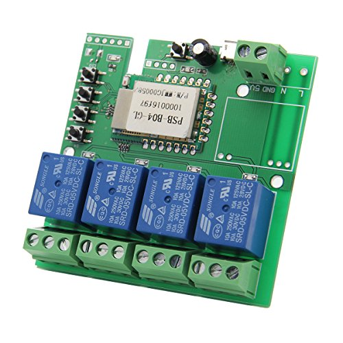 5V DIY Four Channel Jog Inching Self-locking WIFI Wireless Smart Home Switch by SPS_IN (Image #4)