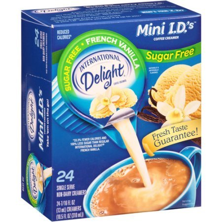 International Delight, Sugar Free, French Vanilla Non Dairy Creamer, 24 Count Creamer Singles (6 boxes)